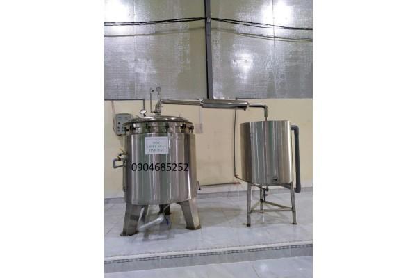 Nồi chưng cất tinh dầu hoa hồng đa dạng công suất từ mini đến công nghiệp