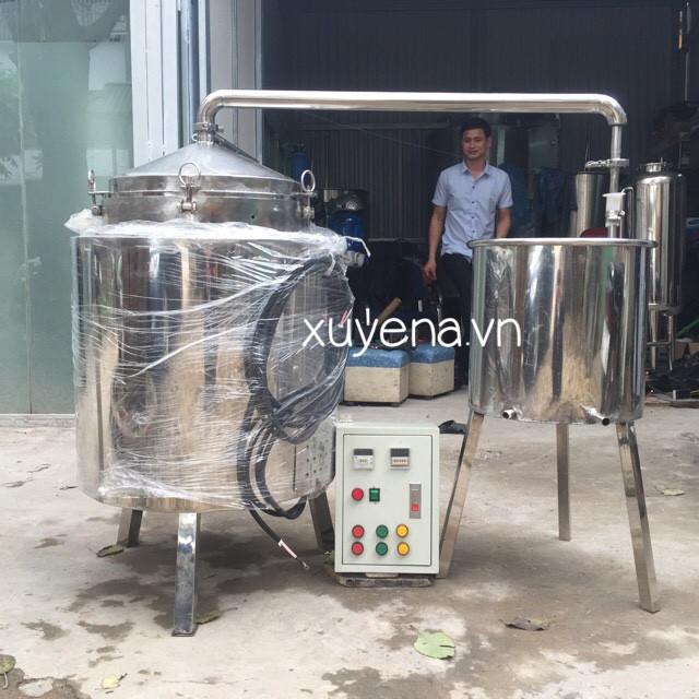 Nồi nấu rượu bằng điện cho hệ thống nấu rượu thủ công