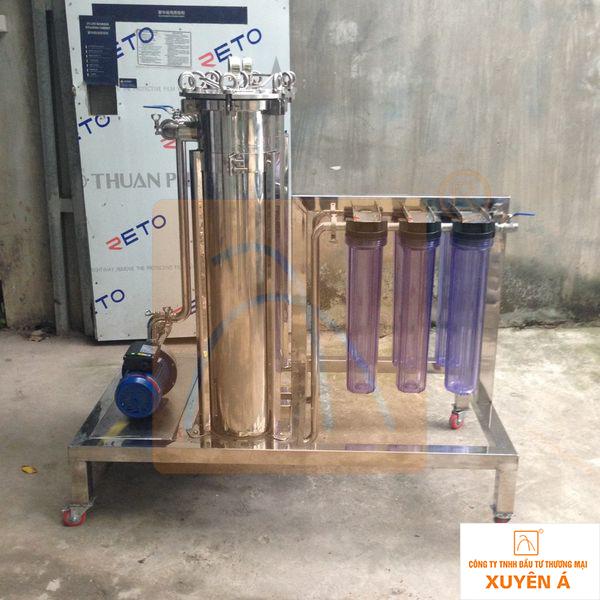Máy lọc rượu vang loại 2 đơn nguyên công suất 200-250 lit/h